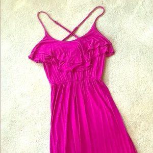 Dark Magenta Cross-Back Maxi Sun Dress ☀️